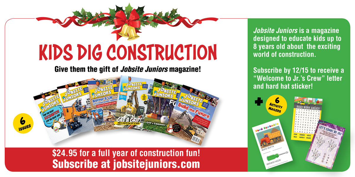 Jobsite Juniors™ | KIDS DIG CONSTRUCTION | Subscribe by 12/15
