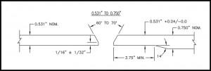 Figure 7 Counter bore spec