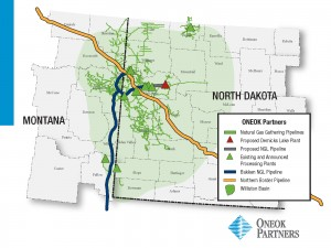 Tulsa, Oklahoma-based ONEOK Partners LP is planning to invest approximately $605 million to $785 million between now and the end of the third quarter 2016 to expand natural gas infrastructure in North Dakota's Bakken shale region.