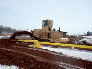 The Tesmec M3 digging in Pennsylvania
