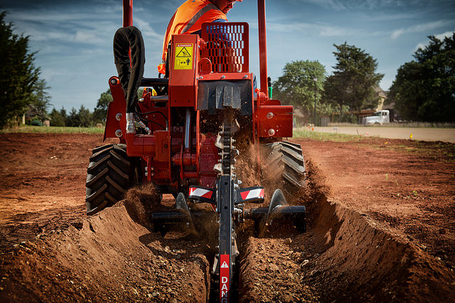 The Ditch Witch RT45 ride-on trencher recently received numerous upgrades including a more powerful engine.