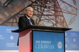 IHS Vice Chairman, Daniel Yergin addresses delegates at IHS CERAWeek 2014 in Houston. (Photo courtesy of IHS.)