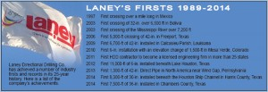 Laney's Firsts 1989-2014