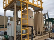 Purestream's IGF Plus 5,000-bpd system  treats produced and frack water for reuse in the Permian Basin. The system removes oil, grease and suspended solids from produced water. Treating water for reuse in the field is often times more cost-effective than traditional methods of transporting and disposing of wastewater.