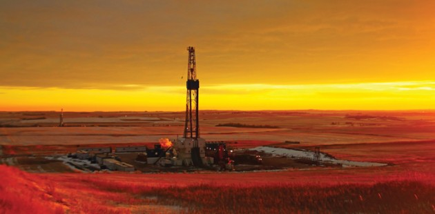 Sunset Rig Near Williston