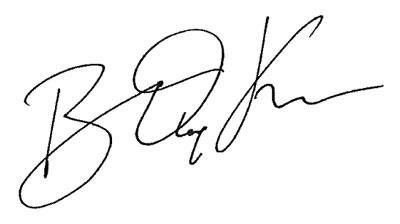 Bradley Kramer - signature