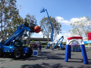 Clearly not taken in Chicago -- it was too rainy for photos -- but the Genie Ride and Drive dealer event showed off its newest equipment and featured a little fun for customers.