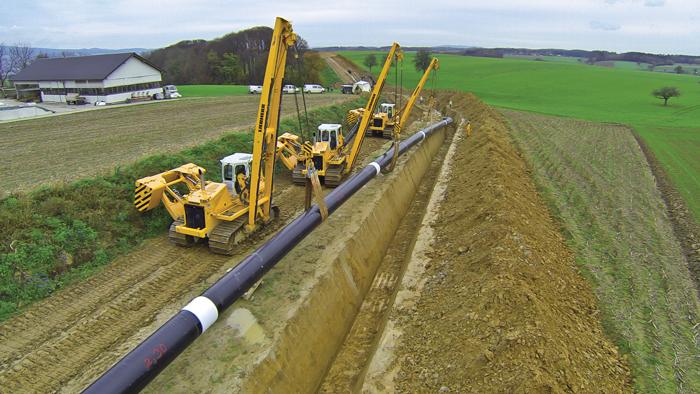 Liebherr RL54 pipe layer