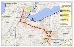 Rover Pipeline Counties Traversed Map