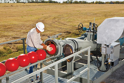 Switching to automated pig launching is one way pipeline operators could save money in an era of low commodity prices. Using equipment that can be remotely programmed to deploy multiple spheres or pigs on a regular schedule could save hundreds of thousands of dollars.