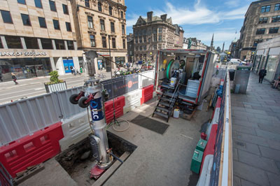 One of the most high profile deployments of CISBOT occurred in May and June of 2015 when the robot was launched under iconic George Street in Edinburgh, Scotland. UK-based gas utility SGN adopted the robot for use in 2013 and began programmatic deployments of the technology in 2014.