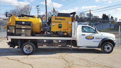 Banks Gas used a truck-mounted Vermeer VX100XT AIR Series Vacuum Excavator by McLaughlin to help complete the distribution gas line project, using the unit to expose and identify underground infrastructure.