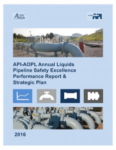 COVER ONLY 2016-API-AOPL-Annual-Pipeline-Safety-Excellence-Performance-Report-Strategic-Plan