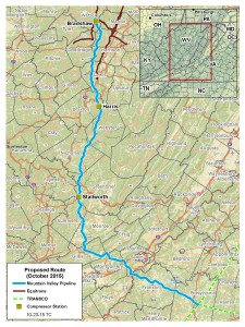 The proposed Mountain Valley Pipeline received FERC's Draft Environmental Impact Statement.