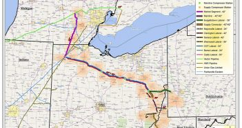 A map of the proposed Rover Pipeline project, set to be in service by July 2017.