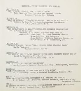 club meeting notes from 1970-1971