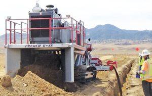 Crusher Rental & Sales Inc. Model 48P01 Trench Boss Pipeline Padding Machine