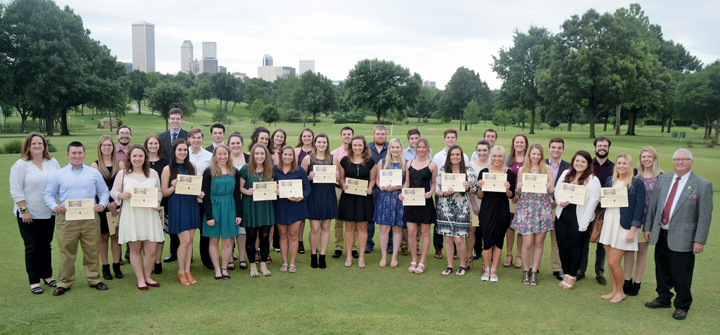 2016 Pipe Liners Club of Tulsa Scholarship recipients