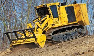 Tigercat 480B Mulcher and 4061 Mulching Head