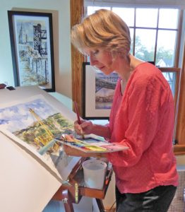 Graphic Artist and painter, Joan Satow