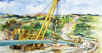 pipeline watercolor painting