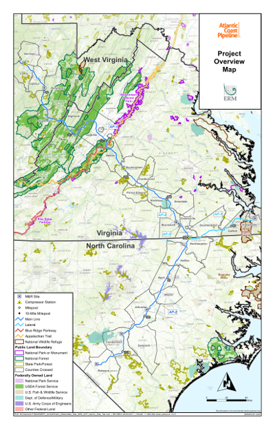 Atlantic Coast Pipeline Map
