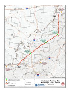 TransCanada Mountaineer XPRess Map