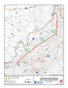 TransCanada Mountaineer XPRess Map