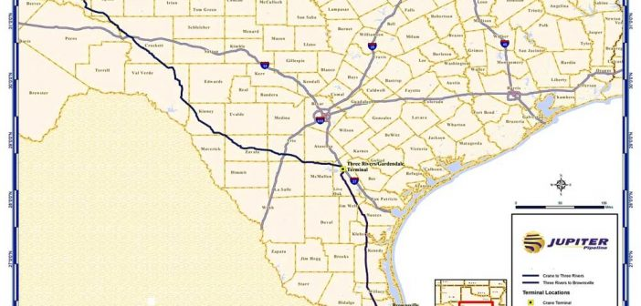 Jupiter Pipeline Route