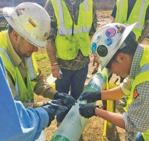 hands on pipeline repair