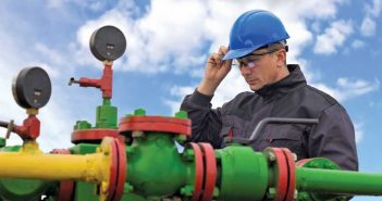 worker at pipeline valves