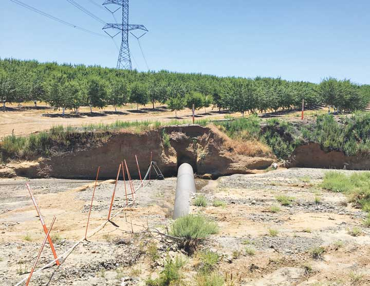 transmission line (L-400) exposed in Petroleum Creek