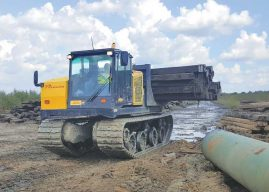 Crawling Anywhere: Crawler Carriers Provide Efficient Support to Pipeline Construction Jobsites