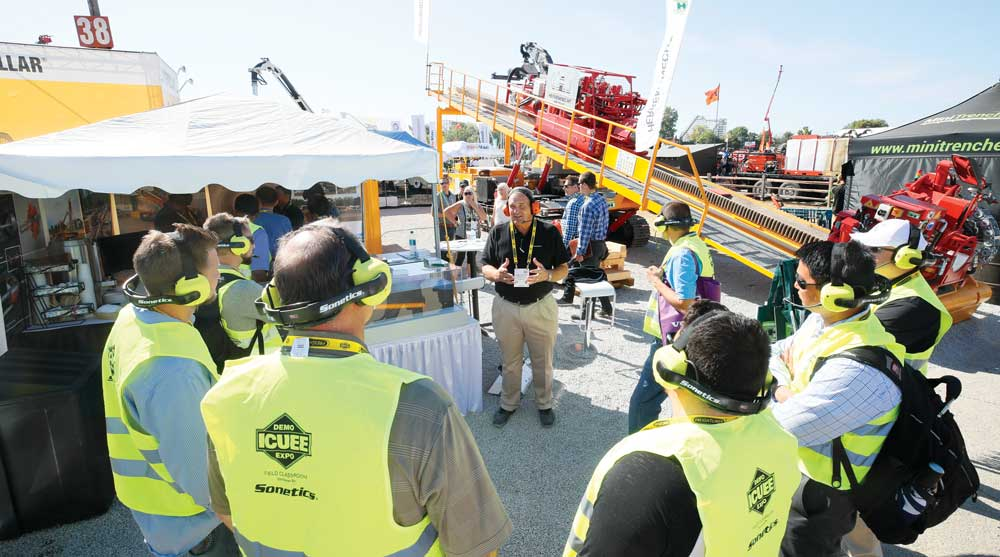 ICUEE outdoor demonstration