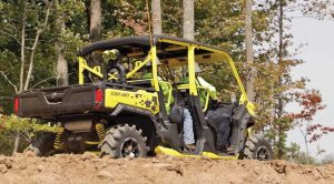 Security personnel use UTVs to roam pipeline project sites