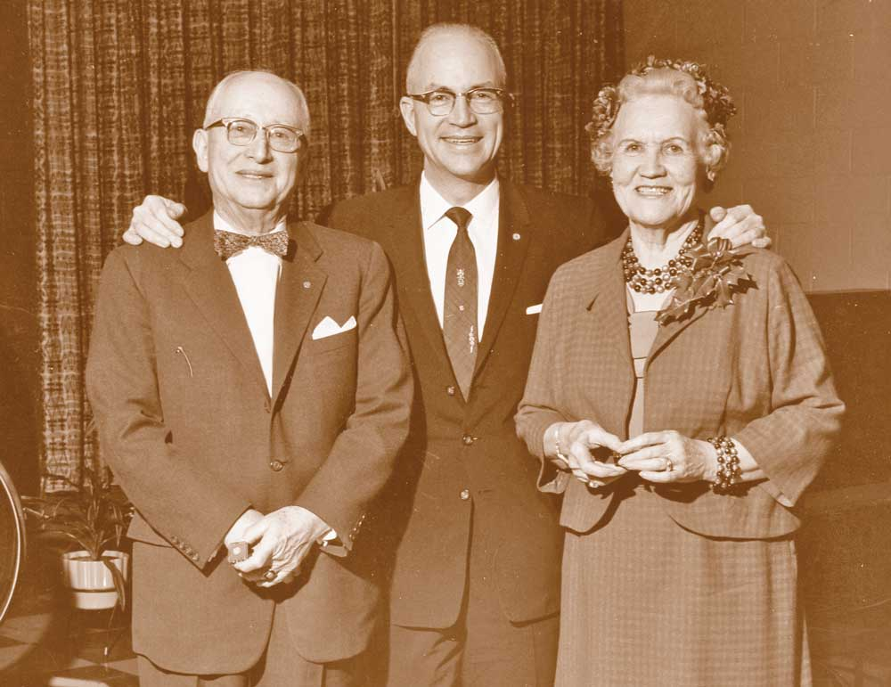 T.D. Williamson Sr., T.D. Williamson Jr. and Edna Mae Williamson
