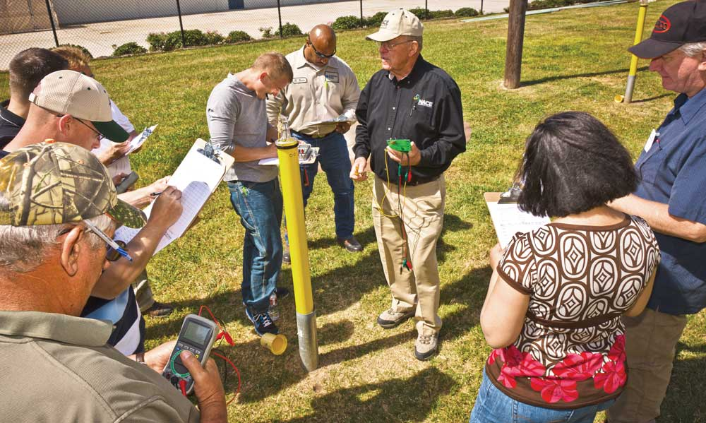 Students practice hands-on cathodic protection testing