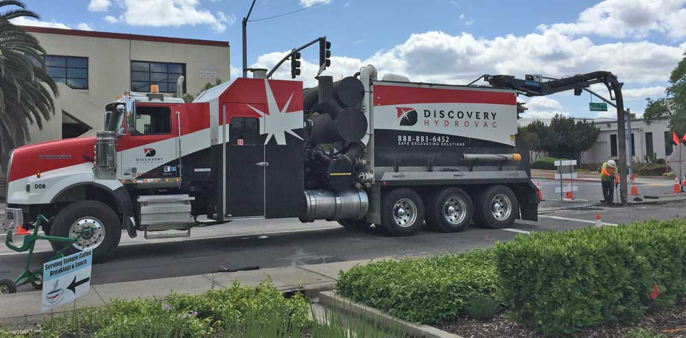 Discovery Hydrovac uses a variety of different makes and models of vacuum excavators