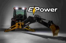 John Deere E-Power Backhoe