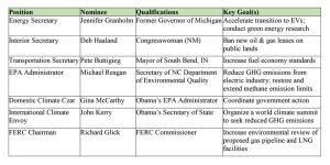 Biden's green team