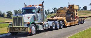 truck hauling equipment