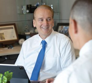 Todd Denton in the office